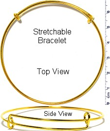 1pc Thin Stretchable Bracelet Metallic Gold Tone SBR649
