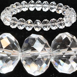10mm Crystal Bracelet Stretch Clear AB SBR874