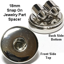 1pc 18mm Snap on Holder Jewelry Spacer Part Link Silver ZB252