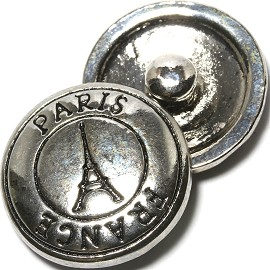 1pc 18mm Paris Snap On Silver ZR1108