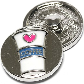 1pc 18mm Snap On Charm Coffee Pink blue ZR1306