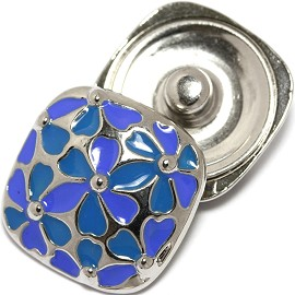 1pc 18mm Snap on charm Blue Flower ZR1751