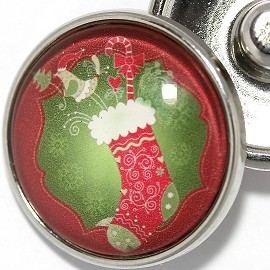 1pc 18mm Snap On Charm Christmas Season ZR1846