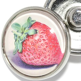 1pc Snap On Charm Strawberry Zr1917