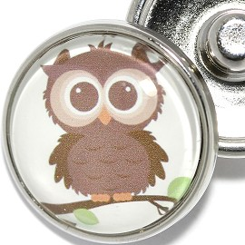 1pc Snap On Charm Owl Zr1922