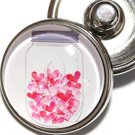 1pc 18mm Pink Small Butterfly Snap On Charm ZR2006