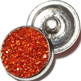 1pc 18mm Snap On Rhinestone Orange ZR609