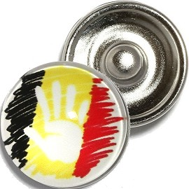 1pc 18mm Snap On Charm Hand Black Yellow Red ZR908