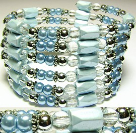 "1pc 37"" Magnetic Wrap Pearl Baby Blue 37W170A"