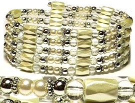 "1pc 37"" Magnetic Wrap Pearl Cream 37W121A"