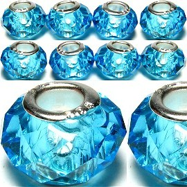 8pcs Crystal Beads Aqua BD013