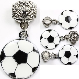 4pc Charm Soccer Ball Black White BD1118