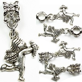 5pcs Charms Cupid with Bow Silver BD1120
