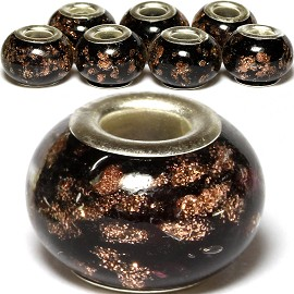 8pc Bead Black Gold BD1124