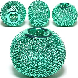 4pcs Mesh Beads Metal Link 16x13mm Teal BD1135