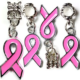 2pcs Charms Pink Ribbon BD1136