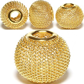 4pcs Mesh Beads Metal Link 16x13mm Gold Yellow BD1152
