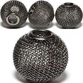 4pcs Mesh Beads Metal Link 20mm Dark Gray BD1160