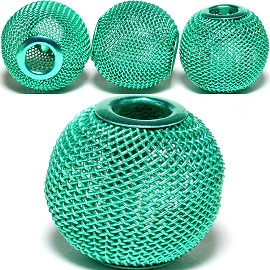 4pcs Mesh Beads Metal Link 20mm Teal BD1165