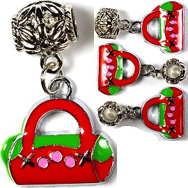 4pcs Charms Purse Red Green BD1197