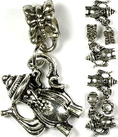 Charms 4pc Teapot Silver Fancy BD1287