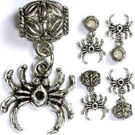 5pc Charm Spider Silver BD1308