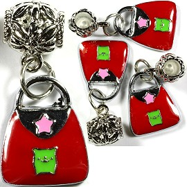 4pcs Charm Purse Red Green BD1360