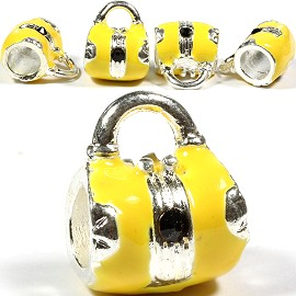 5pc Charms Purse Silver Yellow BD1433