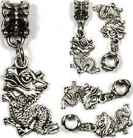 5pc Charm Dragon Silver BD1493
