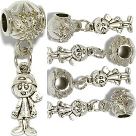 5pcs Charms Boy Silver BD1512