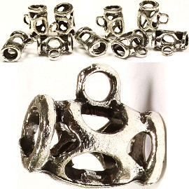 10pcs Charms w/Hole for Chain Gray Silver BD1606