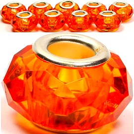 8pcs Crystal Beads Orange BD1633