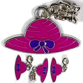 4pc Charm Hat Magenta BD1642