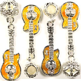 4pcs Charms Guitar Skull Silver Yellow Gold BD1690