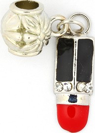3pc Charm Lipstick Silver Black Red BD1734