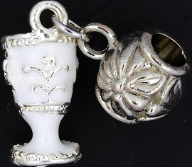 3pc Charm Royal Cup Silver White BD1748