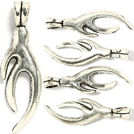5pcs Charm Oval Points Design Silver BD1923