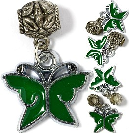 5pcs Charm Butterfly Green BD1925