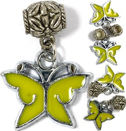 5pcs Charm Butterfly Yellow BD1927