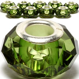 8pcs Crystal Beads Green BD1937