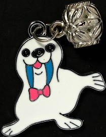 4pc Charms Walrus White BD2094