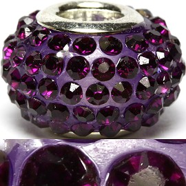 1pc Rhinestones Bead 14x9mm Dark Purple BD2193