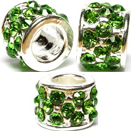 2pc Charm Rhinestone Green BD2226
