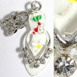 2pcs Charms Rhinestone Lady's Shoes White BD2256