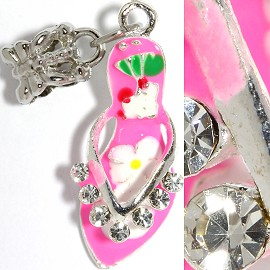 2pcs Charms Rhinestone Lady's Shoes Pink BD2260