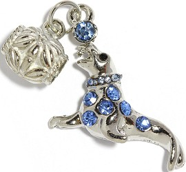 2pc Charm Seal Rhinestone Blue BD2271