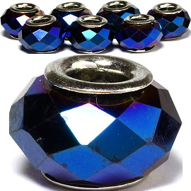 8pcs Crystal Beads Blue Dark BD2547