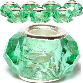 8pcs Crystal Beads Green Lighter BD2551