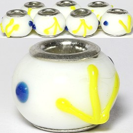 8pcs Beads White Yellow BD2660