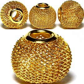 4pcs Beads Metal Link 14x12mm Gold BD2697